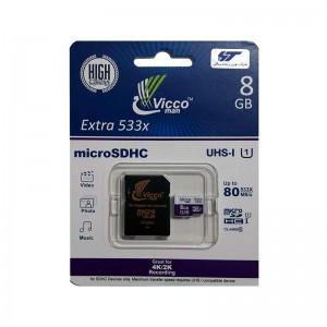 رم Vicco man Micro SD U1 80MBS 8GB