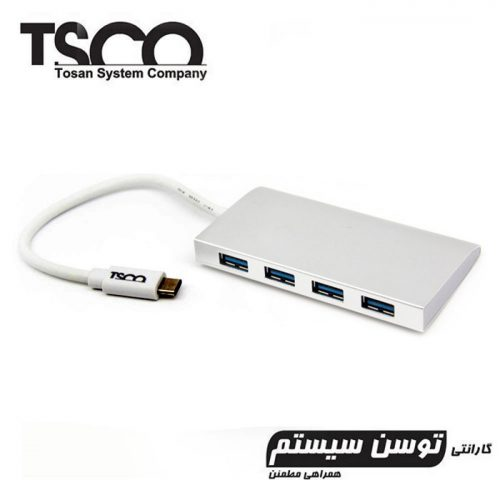 هاب TSCO THU 1154 4Port USB3.0 Type-C + گارانتی