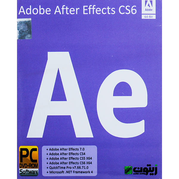 Adobe After Effects CS6 1DVD زیتون