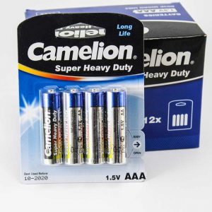پک 12*4 باتری نیم قلمی Camelion Super Heavy Duty R6P AAA