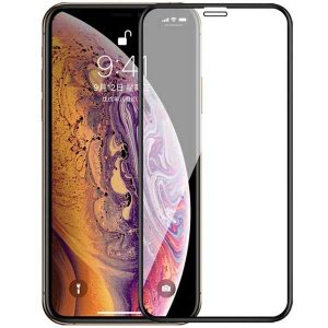 گلس تمام چسب ۳D full cover iphone XR مشکی