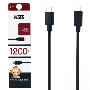 کابل K-Net TYPE-C to MicroUSB 1.2m