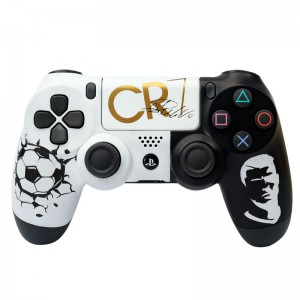 دسته بی سیم SONY PlayStation 4 DualShock 4 High Copy طرح CR7 سفید