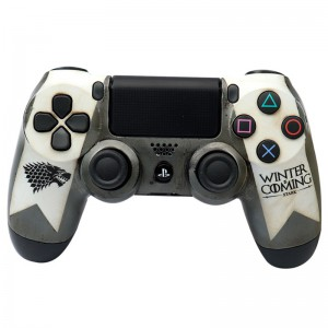 دسته بی سیم SONY PlayStation 4 DualShock 4 High Copy طرح G.O.T سفید کد ۱